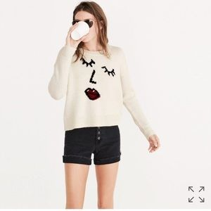 Madewell making faces graphic sweater crew neck